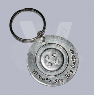 """""""Mum's are like buttons"""" Etched Button Disc Keyring"""