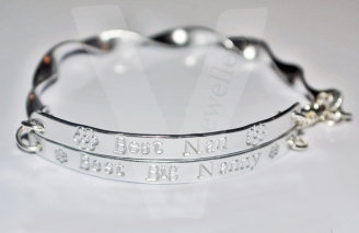 Personalised Spiral Multi-Plate Hand Stamped Bangle