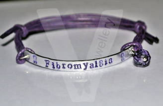 Fibromyalgia Awareness Hand Stamped Bracelet