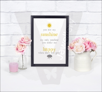 Love... Life... Inspiring Quotes A4 Silhouette Print