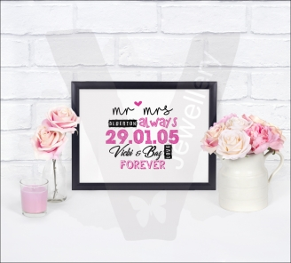 Personalised Printed Design Print *Various Designs and Sizes Available*