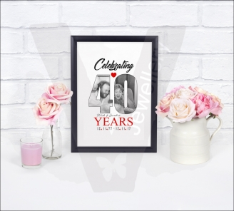 Personalised A4 Photo In Text Print