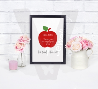 Personalised A4 Teachers Apple Print