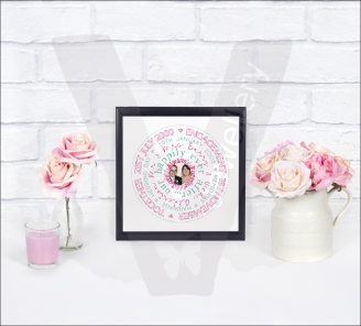 Personalised Circle Text Art Print