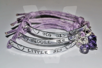 Sisters Hand Stamped Bracelet