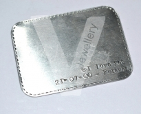 Personalised Stitched Effect Wallet Card