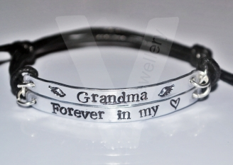 """Personalised """"Forever in my heart"""" Double Multi-Plate Bracelet"""