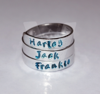 Personalised Hand Stamped 3 Wrap Ring