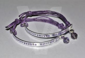 Awareness Hand Stamped Bracelet
