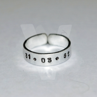 Personalised Hand Stamped Band Ring