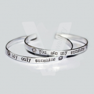 Personalised Wrap Hand Stamped Bangle