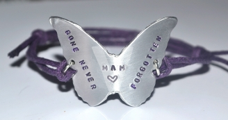 Personalised Butterfly Hand Stamped Bracelet