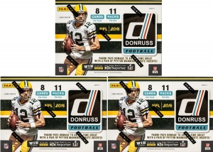 2016 DONRUSS FOOTBALL 11 PACK BLASTER PACKAGE (5 BOXES)
