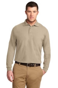 Port Authority® Mens Long Sleeve Silk Touch™ Polo