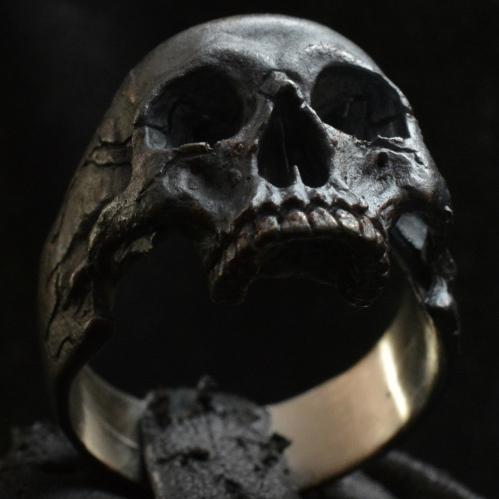 Standard Half Jaw • .925 Sterling Silver • Skull Ring •