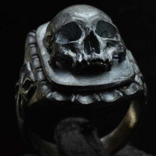 Skull Signet Ring • .925 Sterling Silver • Skull Ring •