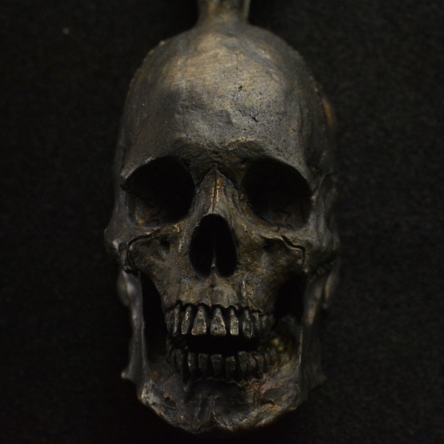 Large Open Full Jaw Pendant with Chain • .925 Sterling Silver • Skull pendant • #27