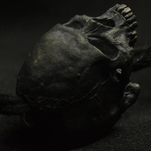 Skull Lanyard Bead Half Jaw  • .925 Sterling Silver • Skull Beads •