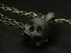 Sterling Silver Skull Pendants Half jaw pendant with chain 925 sterling silver skull necklace use your mouses scroll wheel to zoom in and out audiocablefo
