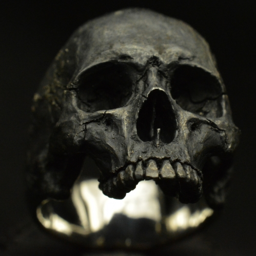 Mid Size Half Jaw • .925 Sterling Silver • Skull Ring •