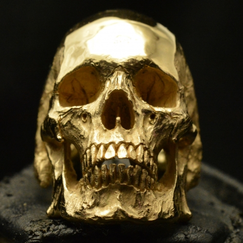 Mid Size Full Jaw • 18k Rose | Yellow Gold • Skull Ring • #31