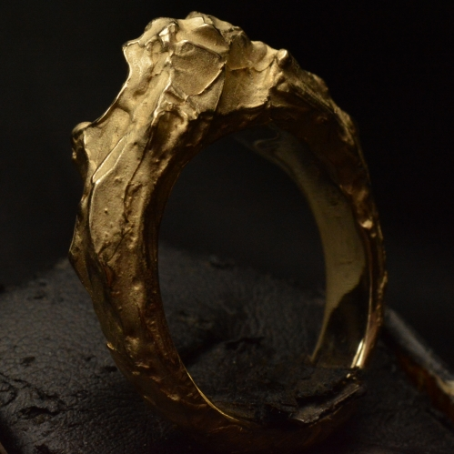 Golden Relic Nugget ring • 14kt Gold • Ring •