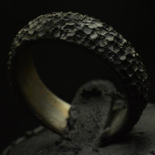 Smouldering Ember Ring • .925 Sterling Silver • Skull Ring •