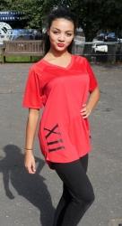 New G12 red basketball T - Shirt