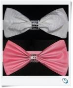 Bling diamante Bow tie backs