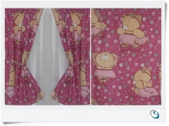 "Pink Ballerina curtains 20""w x 27"""