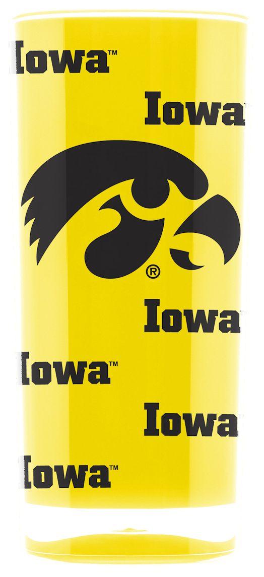 Iowa Hawkeyes NCAA Insulated Square Tumbler Cup Glass Logo Man Fan
