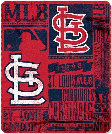 St Louis Cardinals MLB Blanket Fleece 40x40 Logo Throw Baby Man Cool St Louis Cardinals Throw Blanket