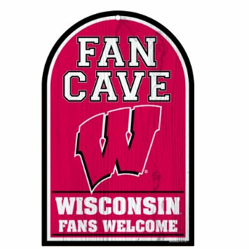 Wisconsin Badgers NCAA Wood Sign 11x17 Welcome Office Home Man Cave