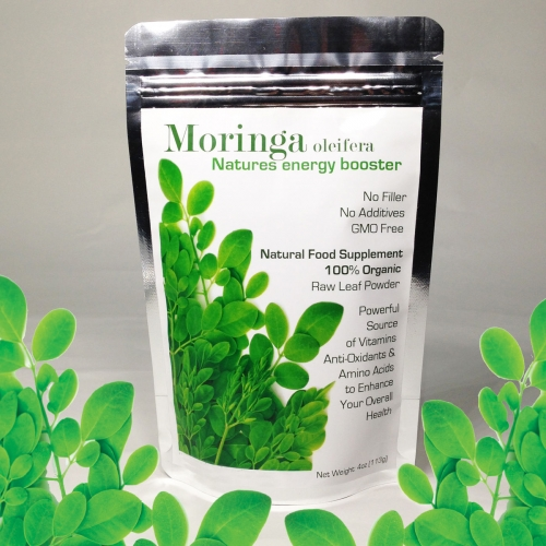 Moringa Oleifera Leaf Powder Freeze Dried 100% Organically Grown 1-3 Month Supply