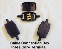 Three Core Cable Connection Box, Black