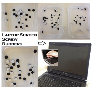 x20, Laptop Screen Screw Rubbers, 6mm - Self adhesive