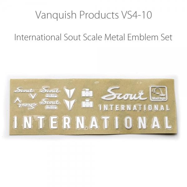 MAD Metal Emblem Set for  VS4-10  Silver Color 2pcs