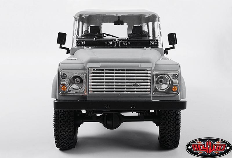 SILVER RC Truck FRONT BULL BAR METAL BUMPER For Gelande Land Rover Defender 90