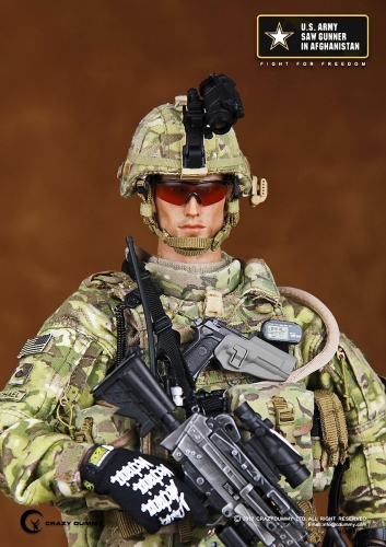 【CrazyDummy】 CD-78004 アメリカ陸軍 SAWガンナー (アフガニスタン) US ARMY SAW GUNNER IN AFGHANISTAN