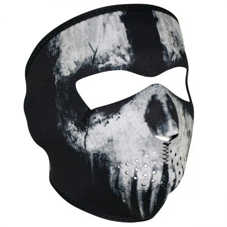 NEOPRENE FULL FACE MASK- Skull Ghost