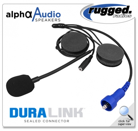 RUGGED RADIOS Alpha Audio Offroad Helmet Kit with 3.5mm Ear Bud Jack