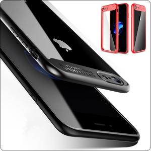 iPhone8 ケース クリア 薄型 iPhone8ケース アイフォンカバー TPU PC カメラ保護 耐衝撃 透明 アイフォン8ケース オシャレ
