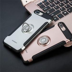 iPhone X / 8 / 8 Plus / 7 / 7 Plus / 6 / 6S Plus ケース リング付き 耐衝撃 指紋防止 360度回転 スマホケース 携帯カバー