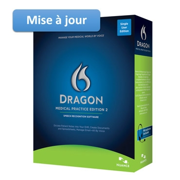 Nuance – Upgrade to Dragon Medical Practice Edition 2 (French)