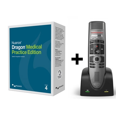 Dragon Medical Practice Edition 4 (English) + Philips' SpeechMike Premium Air Wireless Microphone
