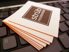 """Social Business Card 2.5""""x2.5"""" Bordes Pintados"""