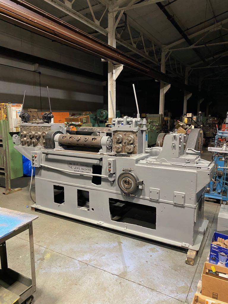 """5/8""""刘易斯型号10-F电线矫直和切割机"""