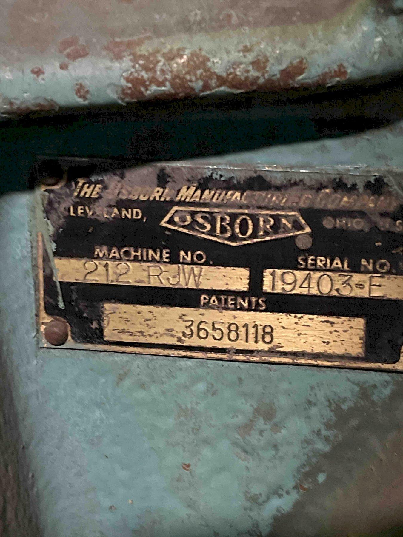奥斯本212rjw成型机s / n 19403-e