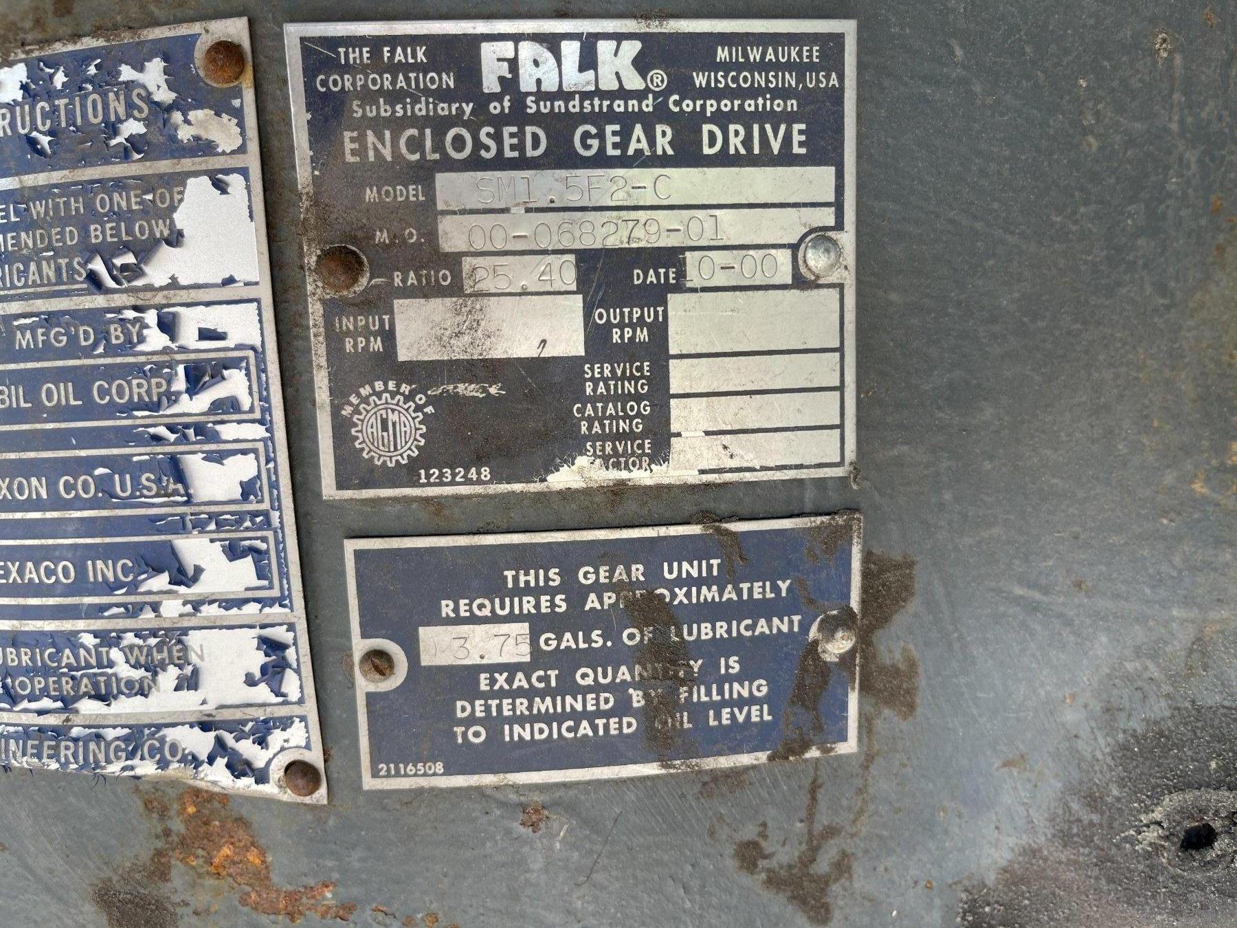 辛普森215型连续磨砂机,带传动和齿轮箱