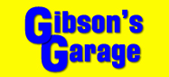 Website for Gibson's Garage